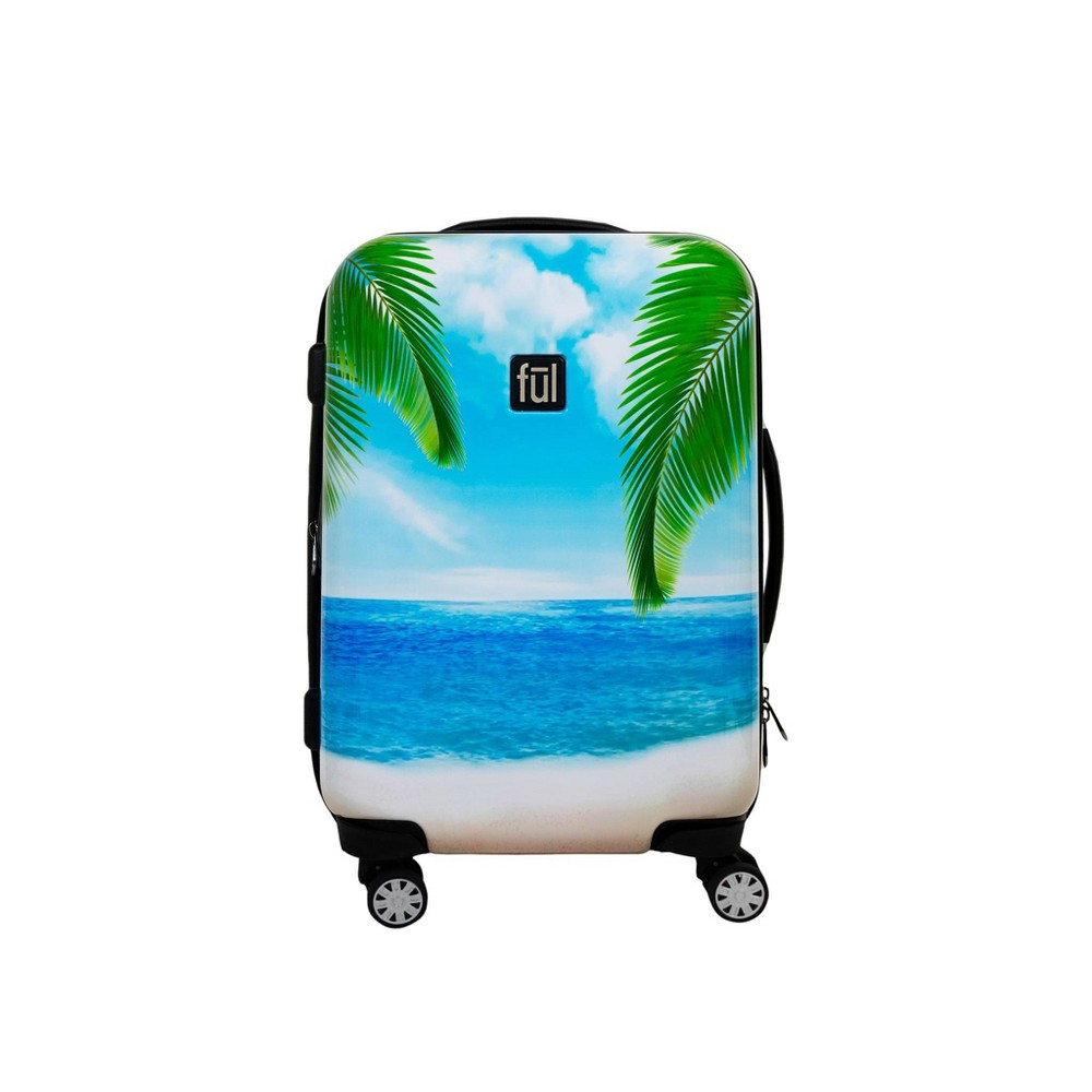 "Image of ""FUL 21"""" Tropical Beach Hardside Spinner Suitcase, Size: Small, Green"""