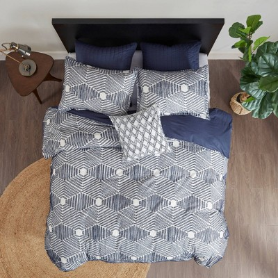 3pc Ellipse Cotton Jacquard Duvet Cover Set