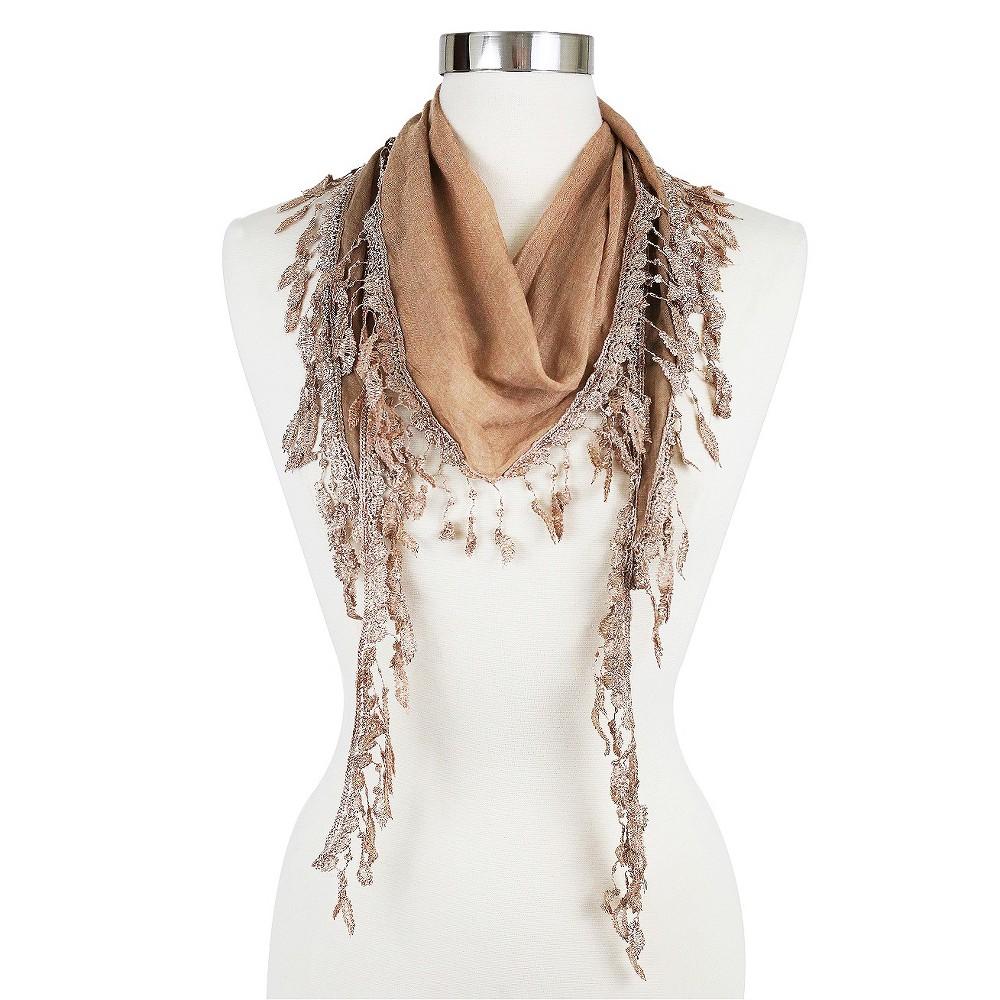 Women's Fashion Triangle Scarf Camel - Sylvia Alexander