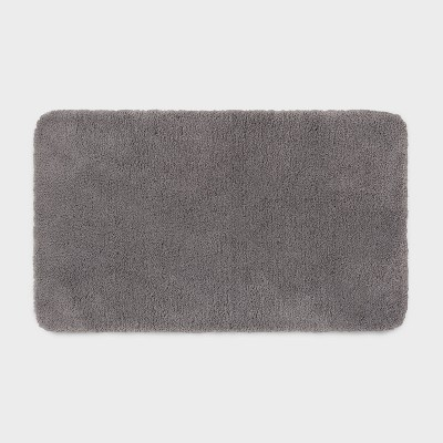 "20""x34"" Performance Nylon Bath Rug Dark Gray - Threshold™"