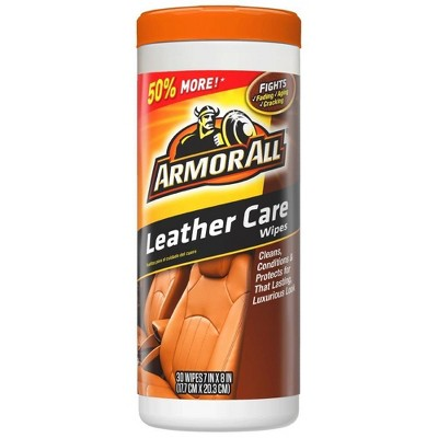 Armor All 30ct Leather Care Wipes Automotive Protector