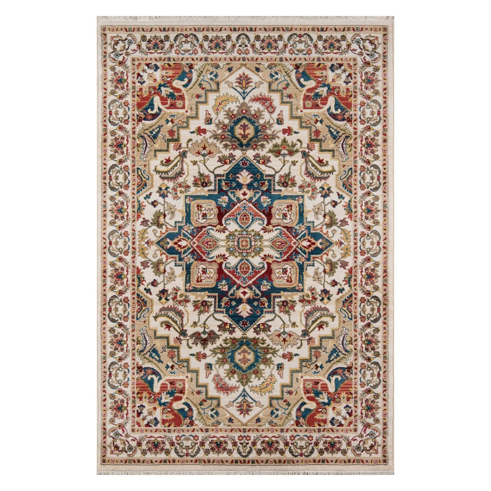 33X53 Medallion Loomed Accent Rug Ivory - Momeni Compare