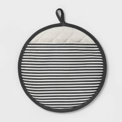 Striped Silicone Pot Holder Gray - Project 62™