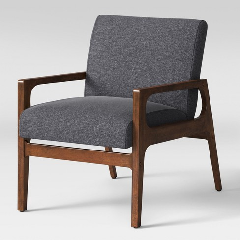 Peoria Wood Arm Chair Gray - Project 62™ - image 1 of 8
