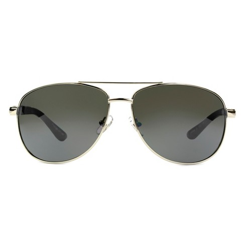 Foster Grant Men's Aviator Sunglasses - Light Silver - image 1 of 2