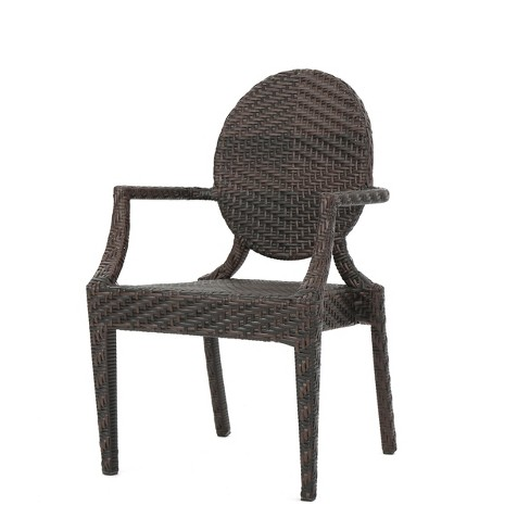 Adriana Wicker Dining Chair - Brown - Christopher Knight Home - image 1 of 4