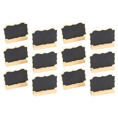 "Juvale Set of 12 Mini Chalkboard Signs Stand Place Cards Message Board 3.5""X2.25"""