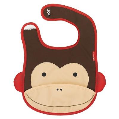 Skip Hop Zoo Little Kids & Toddler Tuck-Away Bib - Monkey