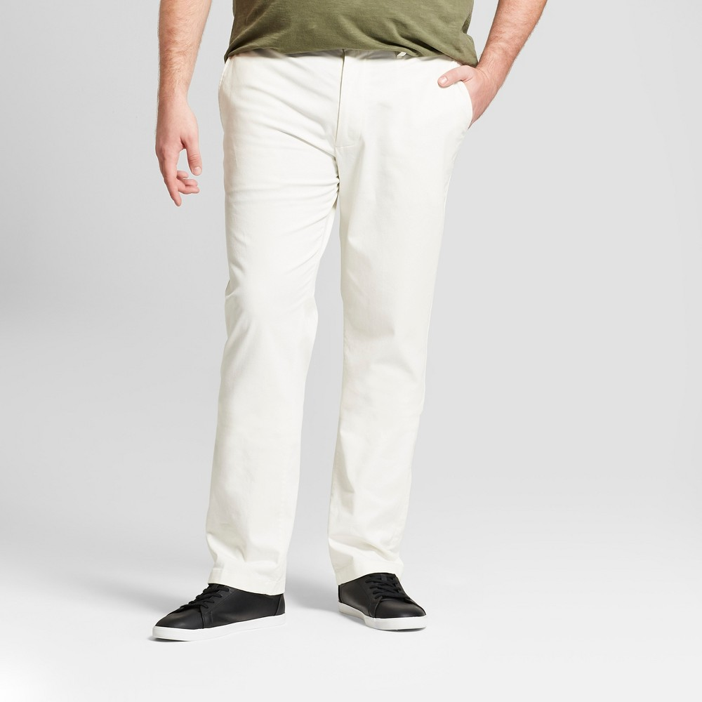Men's Big & Tall Slim Fit Hennepin Chino Pants - Goodfellow & Co White 48X34