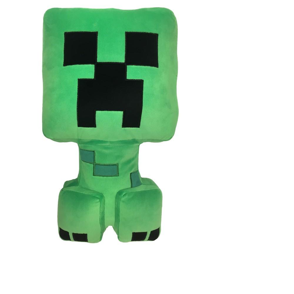 Minecraft Creeper Green Throw Pillow