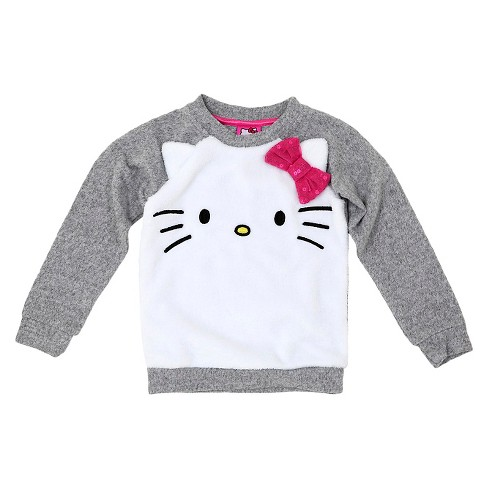 Toddler Girls' Hello Kitty Sweatshirt - Gray - image 1 of 2