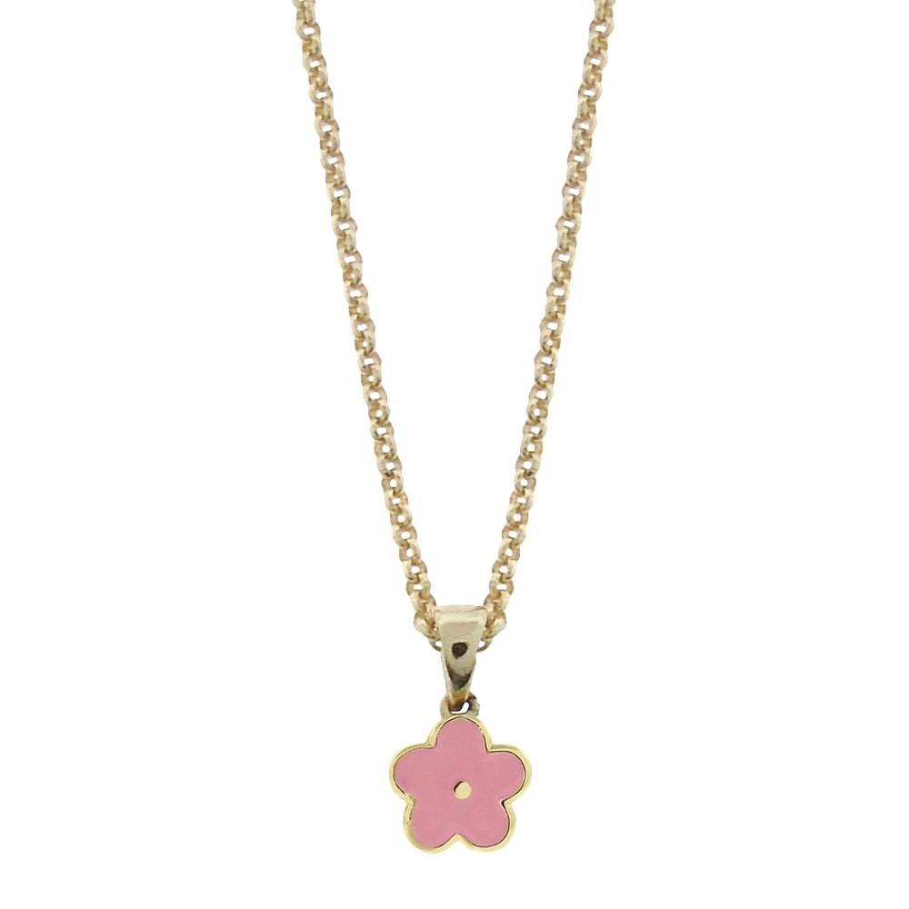 Target Ellen 18k Gold Overlay Enamel Flower Pendant - Pin...