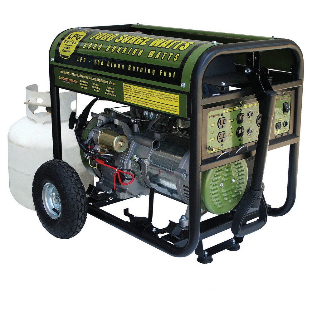 Propane 120 Volts,7000 Watts Generator - Green - Sportsman