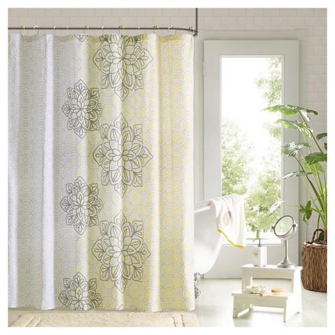Cecelia Geometric Shower Curtain Target