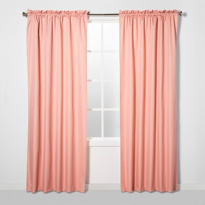 63 x42  Braxton Blackout Window Curtain Panel Coral - Eclipse