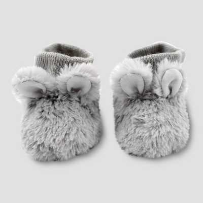 Baby's Faux Fur Bunny Booties - Cloud Island™ Gray 3-6M