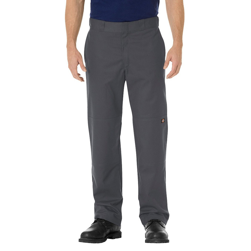 Dickies Men's Regular Straight Fit Flex Twill Double Knee Work Pants- Charcoal (Grey) 40x30