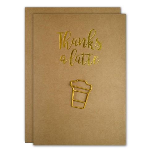 3ct Thanks A Latte Paper Clip Encouragement Cards - image 1 of 3