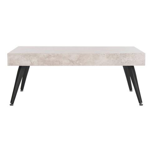 Terrific Cedric Coffee Table Light Gray Safavieh Lamtechconsult Wood Chair Design Ideas Lamtechconsultcom