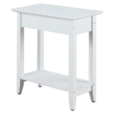 American Heritage Flip Top End Table White - Breighton Home
