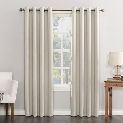 "63""x54"" Kenneth Energy Saving Blackout Grommet Top Curtain Panel Cream - Sun Zero"