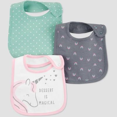Baby Girls' Unicorn Bib - Just One You® made by carter's OSZ Aqua