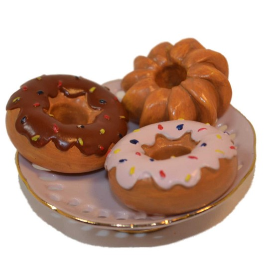 "18"" Doll Food Kitchen Accessories - 2pc Strawberry Doughnuts & Real Bakery Box image number null"