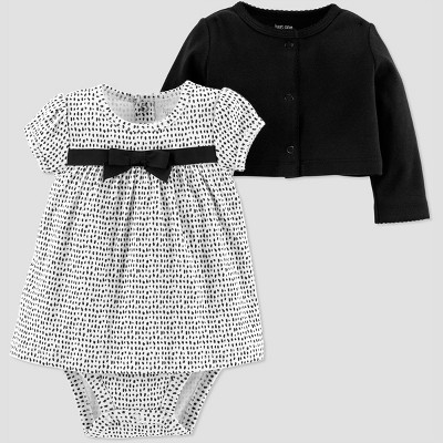 Baby Girls' 2pk Dot Dress Set - Just One You® made by carter's Black 3M