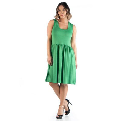 24seven Comfort Apparel Women's Plus Fit and Flare Dress