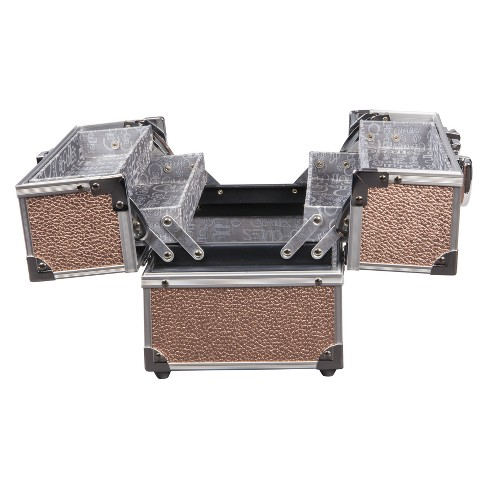 Caboodles Adored 4-Tray Train Case Rose Gold - image 1 of 3