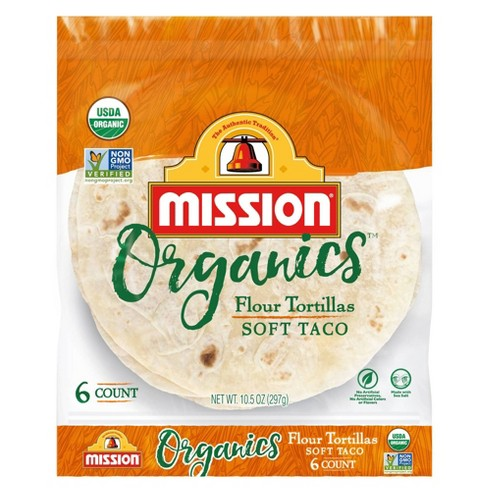 Mission Taco Size Organic Flour Tortillas - 10.5oz/6ct - image 1 of 4