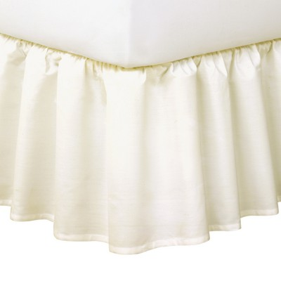 Ruffled 14  Bed Skirt - Ivory (Queen)