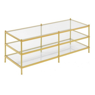 Royal Crest 3 Tier Coffee Table Gold - Breighton Home