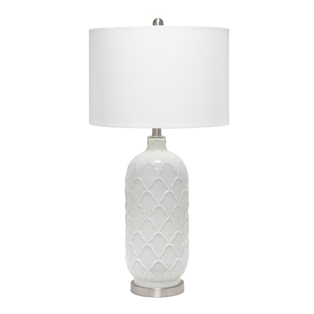 Argyle Classic Table Lamp With Fabric Shade White Lalia Home