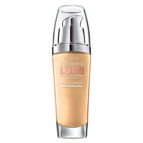 L'Oreal Paris True Match Lumi Makeup W6 Sun Beige 1 fl oz - image 1 of 3
