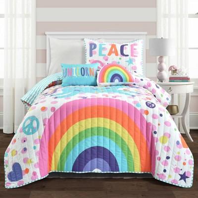 Unicorn Rainbow Quilt Set - Lush Décor