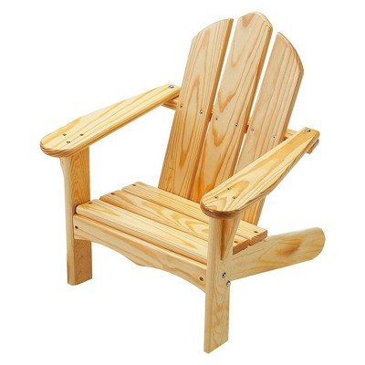 Little Colorado Solid Wood Easy Assembly Kids Classic Adirondack Lounge Patio Chair Children's Backyard Furniture for Indoor Outdoor Use, Natural
