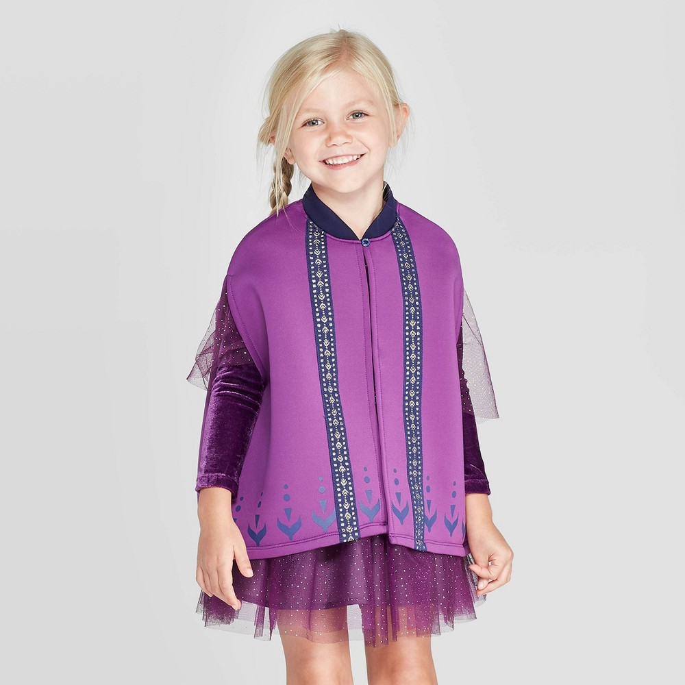 Image of Toddler Girls' Frozen Anna Cape - Purple 2T/3T, Girl's, Size: 2T-3T