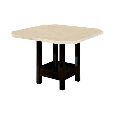 Jerrysburg Faux Marble Table Top Counter Dining Table Black - ioHOMES