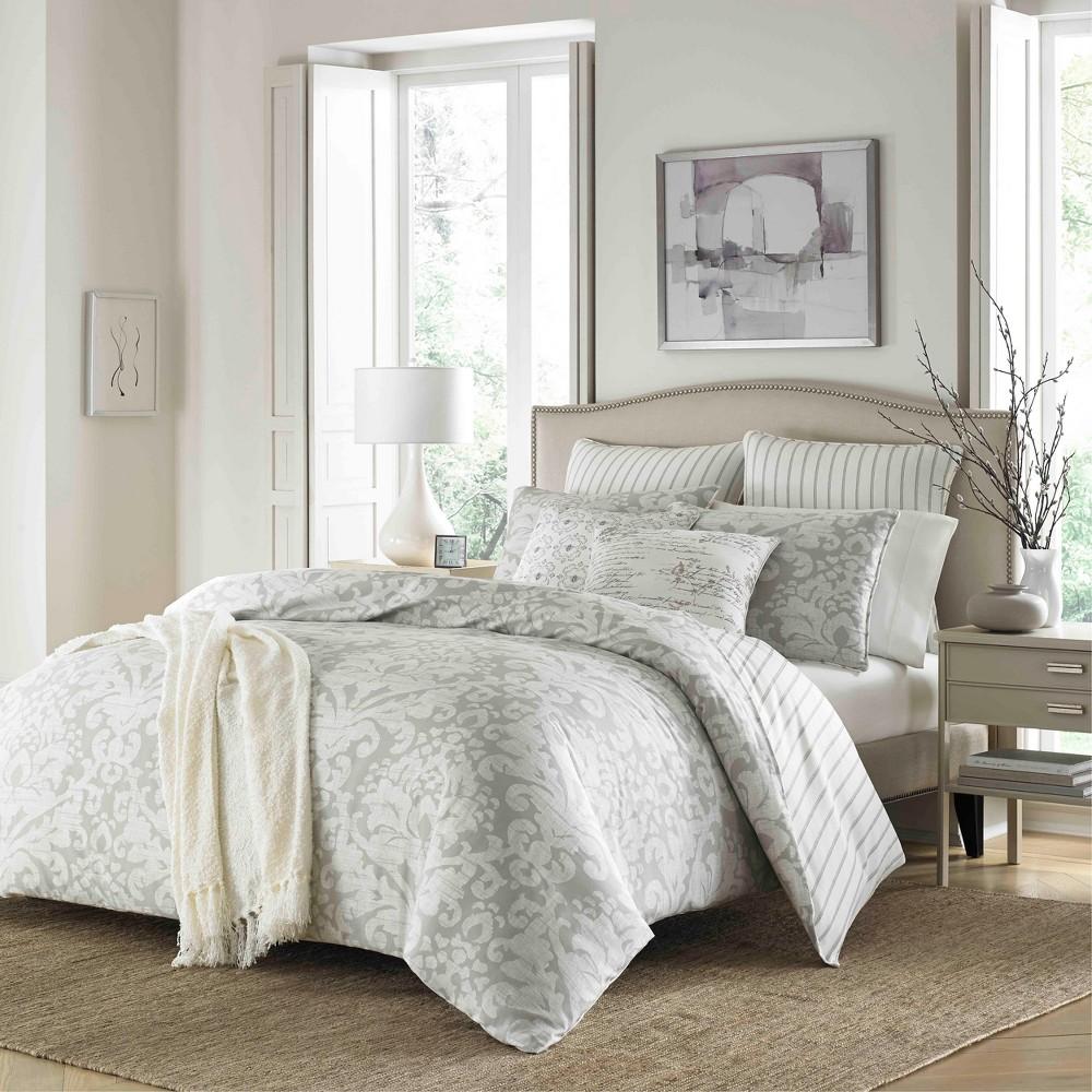 Gray Camden Comforter Set (Full/Queen) - Stone Cottage