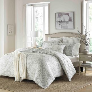 Gray Camden Duvet Cover Set (Full/Queen) - Stone Cottage