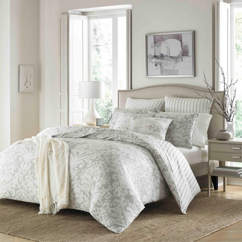 Gray Camden Comforter Set Full Queen Stone Cottage
