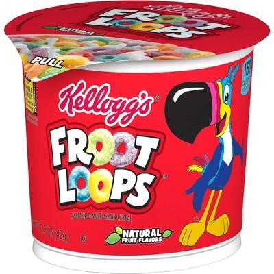Froot Loops Breakfast Cereal - Single Serve Cup - 1.5oz - Kellogg's