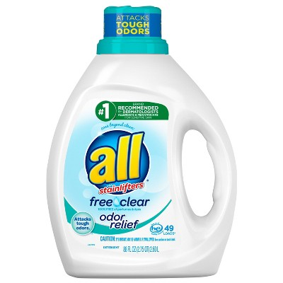 all Free Clear With Odor Relief Liquid Laundry Detergent - 88 fl oz