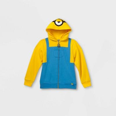 Boys' Universal Minions Costume Hoodie - Gold/Blue