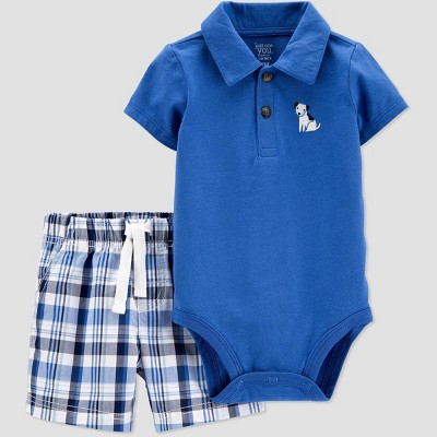 Baby Boys' 2pc Dog Top & Bottom Set - Just One You® made by carter's Blue Newborn
