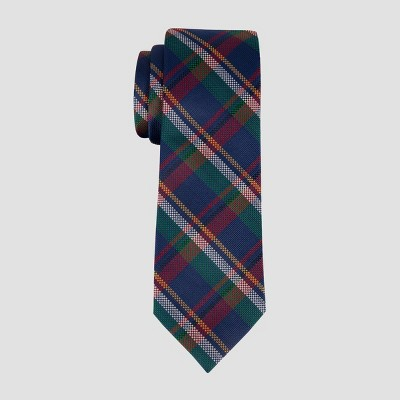 Men's Plaid Herrick Tie - Goodfellow & Co™ Navy One Size