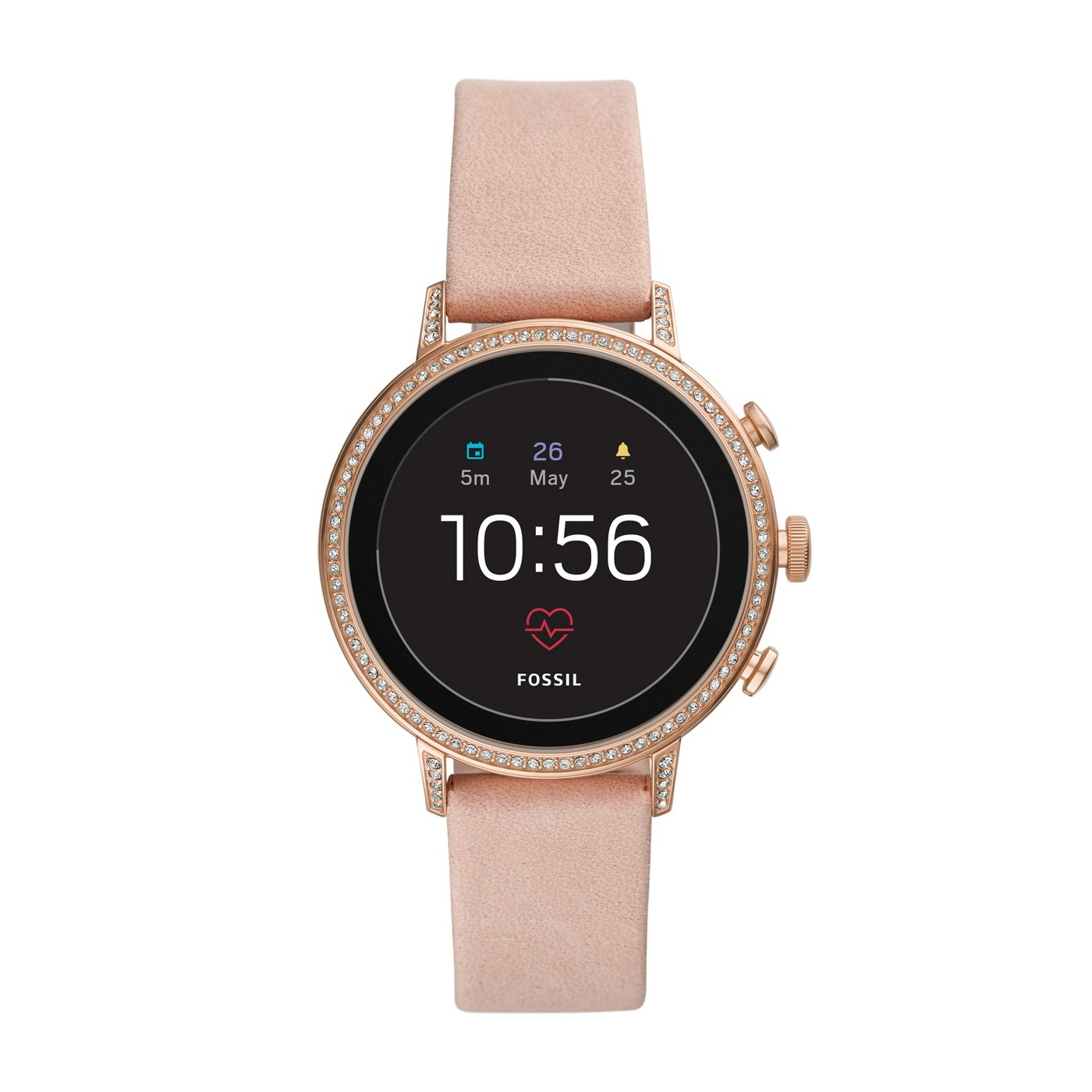 Fossil Gen 4 Smartwatch - Venture HR 40mm Blush Leather - image 1 of 5