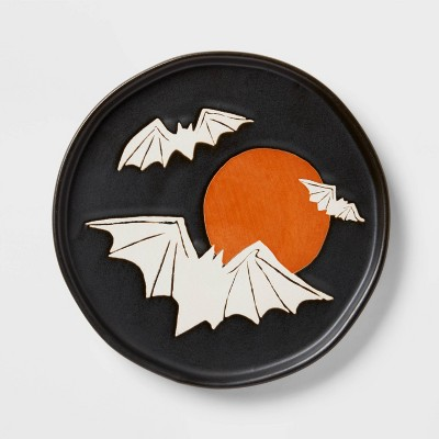 """6"""" Stoneware Bat and Moon Appetizer Plate - Threshold™"""