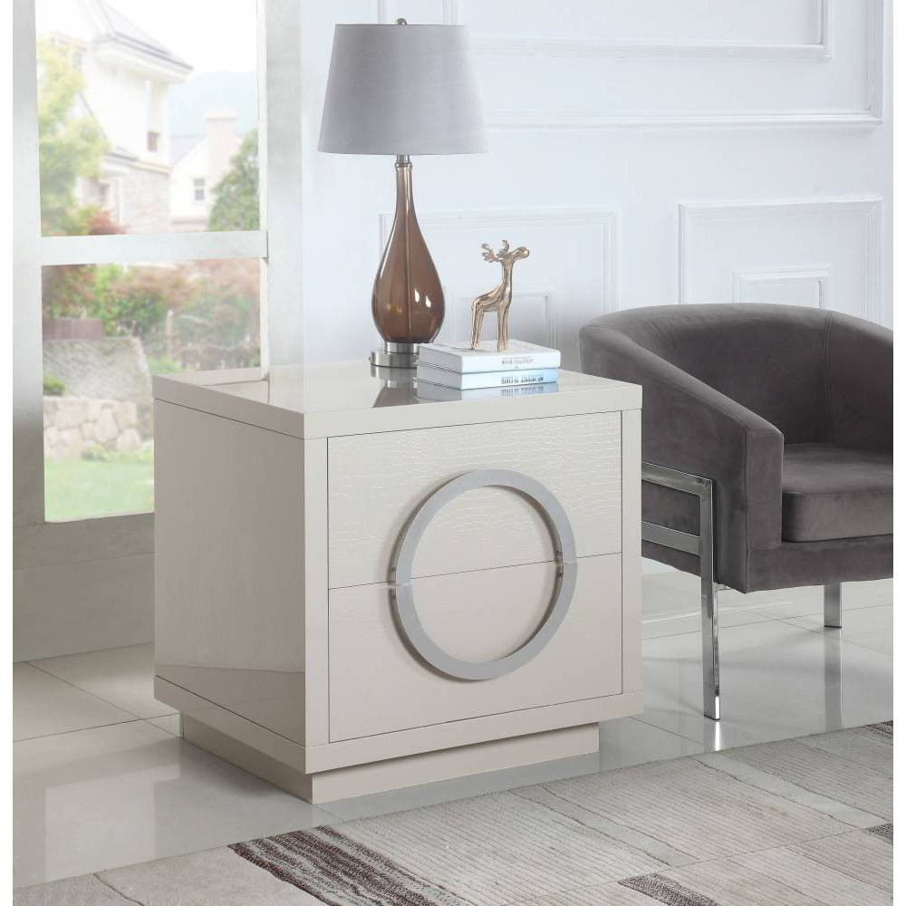 Norcia Side Table Beige - Chic Home Design was $639.99 now $383.99 (40.0% off)